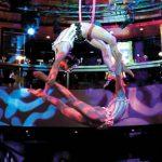 Mira a acróbatas y equilibristas de talla mundial hacer sus trucos en el aire